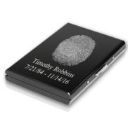Custom Metal Fingerprint Engraved Card Holder