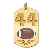 Personalized Football Number Dog Tag Color Pendant