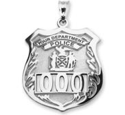 Personalized Police Badge with Your Number   Department