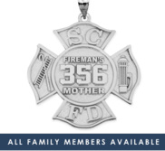 Family Member s Firefighter Badge w  Your Number   Department Initals