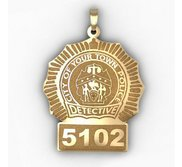 Personalized Detective Badge with Your Number   Department