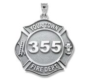 Personalized Firefighter Badge with Your Number   Department