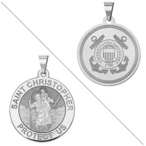 Saint Christopher Doubledside Coast Guard Religious Medal  EXCLUSIVE
