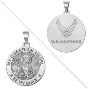 My Guardian Angel Doubledside AIR FORCE Religious Medal  EXCLUSIVE