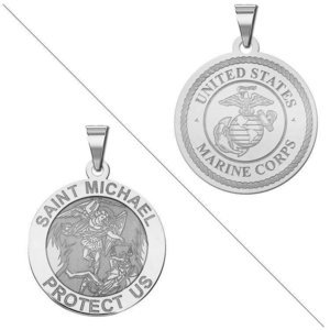 Saint Michael Doubledside MARINES Religious Medal  EXCLUSIVE