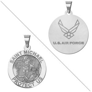 Saint Michael Doubledside AIR FORCE Religious Medal  EXCLUSIVE