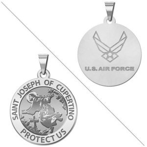 Saint Joseph of Cupertino Doubledside AIR FORCE Religious Medal  EXCLUSIVE