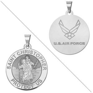 Saint Christopher Doubledside AIR FORCE Religious Medal  EXCLUSIVE