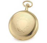 Charles Hubert Gold Tone Two Photo Pocket Watch