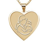 Mother and Son   Heart Pendant