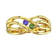 Mother s Ring with Two Birthstones