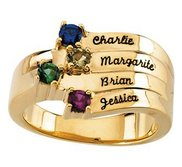 4 Stone Mother s Personalized Ring