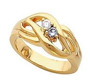 Two Birthstones Mother s Ring