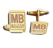Rectangle Cufflinks Logo Jewelry