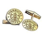 Round Cufflinks Logo Jewelry