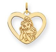 Disney Belle Heart Charm