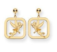 Disney Tinker Bell Dangle Post Square Earrings