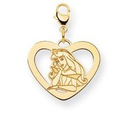 Disney Aurora Lobster Clasp Heart Charm