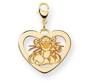 Disney Tigger Heart Lobster Clasp Charm