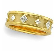 TWO TONE DIAMOND ETRUSCAN BAND