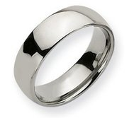 Titanium Polished Comfort Fit 7mm Wedding Band