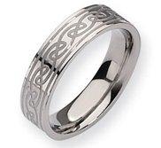 Titanium Celtic Knot 6mm Satin and Polished Wedding Band