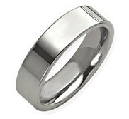 Sterling Silver 7mm Flat  Wedding Band