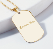 Engraveable Dog Tag Pendant