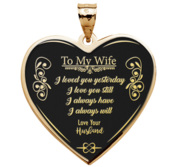 To My Wife   Heart Pendant or Charm