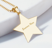 Engravable Star Shape Pendant or Charm