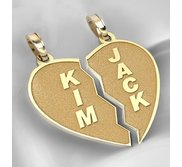 Personalized Broken Heart Pendants or Charms
