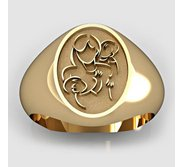 Mother with Two Sons Oval Shaped  Mother s Ring
