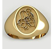 Mother with Three Daughters Oval Shaped  Mother s Ring