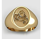 Mother with Son and Daughter Oval Shaped  Mother s Ring