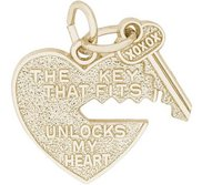 HEART   KEY ENGRAVABLE