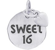 SWEET 16 TAG W HEART ENGRAVABLE