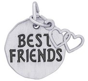 BEST FRIENDS TAG W HEART ENGRAVABLE