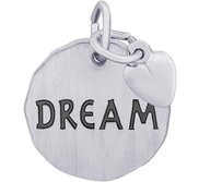 DREAM TAG W HEART ENGRAVABLE