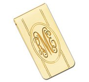 Engravable Gold Plated Money Clip
