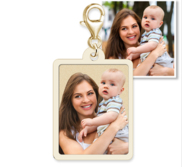 Petite Rectangle with Border Photo Charm For Bracelet