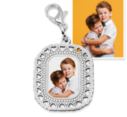 Photo Engraved Small Rectangle Charm