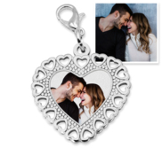 Photo Engraved Small Heart Charm