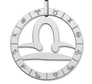Cutout Round Libra Symbol Charm or Pendant