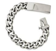 Custom Engraved Stainless Steel Men s Curb Link 8 5in ID Bracelet