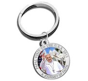 Pope Francis   Papal Visit Washington D C  2015 Color Religious Engravable Keychain