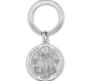 Saint Benedict Jubilee Religious Engravable Keychain