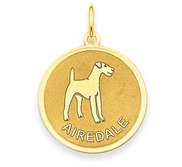 Airedale Disc Charm or Pendant