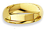 14K Yellow Gold Comfort Fit Wedding Bands
