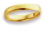 14K Yellow Gold Beveled Edge Wedding Bands
