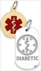 Silver and Gold Medical ID Jewelry